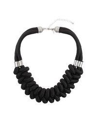 TOPSHOP - Black Cord Collar - Lyst
