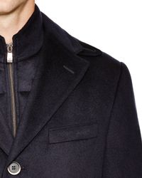 Corneliani - Blue Solid Id Classic Fit Topcoat for Men - Lyst