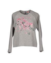 MSGM - Gray Sweatshirt - Lyst
