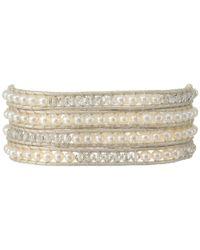 Chan Luu - Natural 32' White Mix/pearl Wrap Bracelet - Lyst