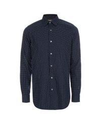 Paul Smith | Blue Men's Tailored-fit Navy 'mini Floral' Print Shirt for Men | Lyst