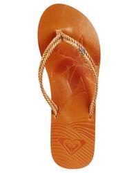 Roxy | Brown Bali Flat Flip Flops | Lyst