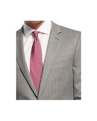 DKNY - Gray Slim-fit Grey Nailhead Suit for Men - Lyst