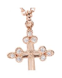 Stone | Pink Devotion 18kt Rose Gold Necklace With White Diamonds | Lyst