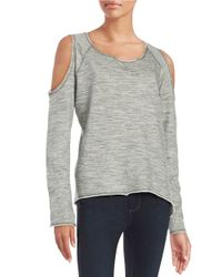 Nation Ltd | Gray Cold-shoulder Sweatshirt | Lyst