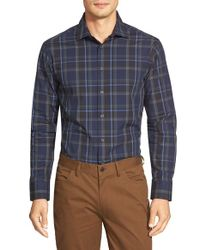 Vince Camuto | Blue Slim Fit Sport Shirt for Men | Lyst