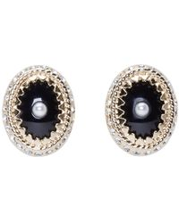 Givenchy   Metallic Gold And Pearl Magnet Earrings   Lyst