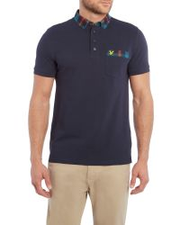 Lyle & Scott | Blue Tartan Collar Polo Shirt for Men | Lyst