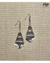Tokyo Darling | Metallic Tiered Tribal Earrings | Lyst
