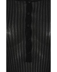 Blumarine - Black Long Sleeve Ribbed Top - Lyst