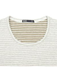 Onassis Clothing | White Striped Pkt Crew Neck for Men | Lyst