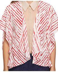 Forever 21 - Natural Ketched Stripes Cardigan - Lyst
