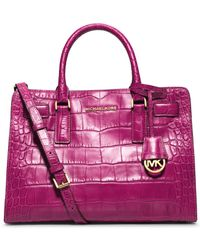 Michael Kors | Purple Michael Dillon E/W Satchel | Lyst