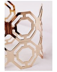 Missguided | Metallic Cut Out Cuff Gold | Lyst