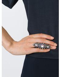 Monan   Black Large Gothic Style Ring   Lyst