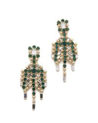DANNIJO - Green Hilaria Earrings - Lyst