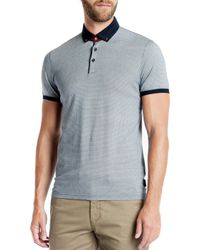Ted Baker | Blue Chapmun Geo Slim Fit Polo for Men | Lyst