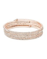 Anne Klein | Pink Rose Goldtone Multi-strand Bangle | Lyst