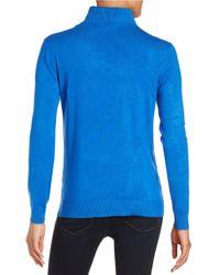 Calvin Klein | Blue Knit Turtleneck Sweater | Lyst