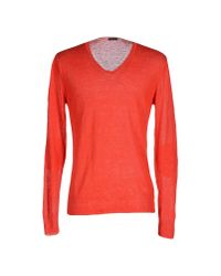 Paolo Pecora - Red Jumper for Men - Lyst
