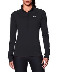 Under Armour | Black Half-zip Pullover | Lyst