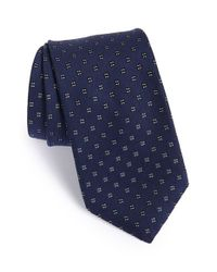 John Varvatos | Blue Geometric Tie for Men | Lyst