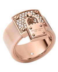 Michael Kors | Pink Padlock Ring | Lyst