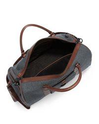 Ben Minkoff - Gray Emil Leathertrimmed Wool Weekender Bag for Men - Lyst