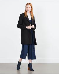 Zara | Black Masculine Coat | Lyst