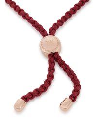 Monica Vinader | Pink Fiji Friendship 18Kt Rose Gold-Plated Bracelet | Lyst