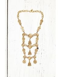 Free People - Metallic Vintage Gold Ladder Necklace - Lyst