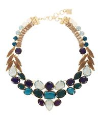 BCBGMAXAZRIA - Blue Jewel-Toned Statement Necklace - Lyst