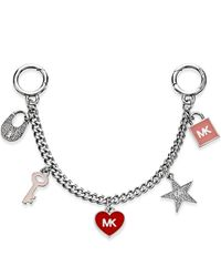 Michael Kors | Metallic Michael Mini Bag Charm | Lyst
