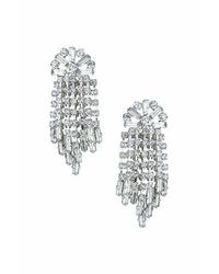 TOPSHOP | Metallic Rhinestone Drop Earrings | Lyst