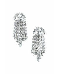 TOPSHOP - Metallic Rhinestone Drop Earrings - Lyst
