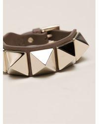 Valentino - Gray 'Rockstud' Bracelet - Lyst