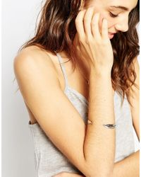 ASOS - Metallic Open Feather Cuff Bracelet - Lyst