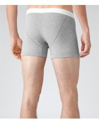Reiss - Gray Ace Cotton Trunks for Men - Lyst