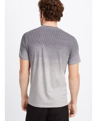 Vince - White Ombré Geo Print Crew Neck Tee for Men - Lyst