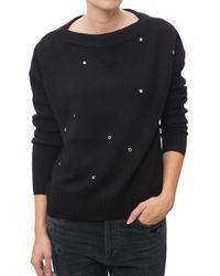 INHABIT | Black Grommet Pullover | Lyst
