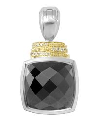 Lagos - Metallic Noir Framed Spinel Diamond-detail Enhancer - Lyst
