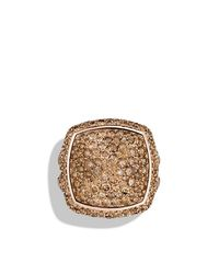 David Yurman - Pink Albion Ring With Diamonds In 18k Rose Gold - Lyst