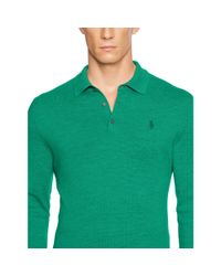 Ralph Lauren - Green Tailored-fit Stretch-mesh Polo for Men - Lyst