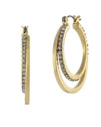 BCBGeneration - Metallic Double Hoop Earrings - Lyst