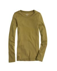J.Crew - Green Perfect-fit Long-sleeve T-shirt - Lyst