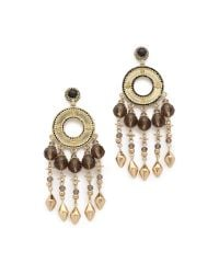 House of Harlow 1960 | Metallic Cuzco Chandelier Earrings - Gold/smokey Grey | Lyst