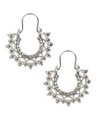 Lucky Brand | Metallic Silvertone Half-moon Pendant Earrings | Lyst