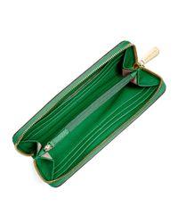 MICHAEL Michael Kors - Green Jet Set Continental Saffiano Wallet - Lyst