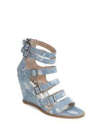 Matisse - Blue 'Honor' Wedge Sandal - Lyst