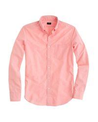 J.Crew | Pink Slim Secret Wash Shirt in Endonend Cotton for Men | Lyst